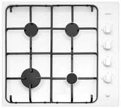 CHEF 60cm Gas Cooktop Enamel Trivets F/F White