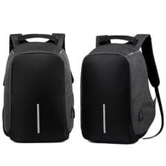 NEW Anti Theft Backpack Waterproof bag School Travel Laptop Bags USB Charging - Black