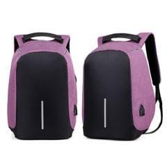NEW Anti Theft Backpack Waterproof bag School Travel Laptop Bags USB Charging - Purple