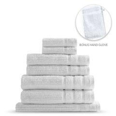 Royal Comfort Eden Egyptian Cotton 600GSM 8 Piece Luxury Bath Towels Set - White
