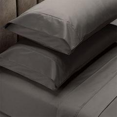 (KING)Renee Taylor 1500 Thread Count Pure Soft Cotton Blend Flat & Fitted Sheet Set - King - Dusk Grey