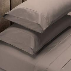 (KING)Renee Taylor 1500 Thread Count Pure Soft Cotton Blend Flat & Fitted Sheet Set - King - Stone