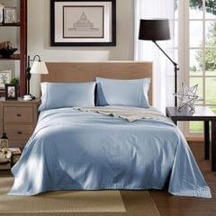 Kensington 1200TC 100% Egyptian Cotton Sheet Set Stripe Luxury - Queen - Chambray Blue