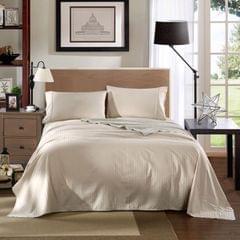 Kensington 1200TC 100% Egyptian Cotton Sheet Set Stripe Luxury - Queen - Sand