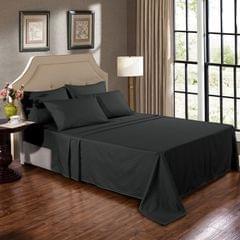 Kensington 1200TC 100% Egyptian Cotton Sheet Set Stripe Luxury MK/K/MQ/Q/D/S - Single - Graphite