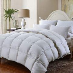 Royal Comfort 350GSM Luxury Soft Bamboo All-Seasons Quilt Duvet Doona All Sizes - King - White