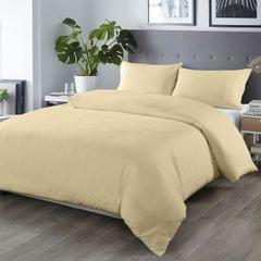 Royal Comfort Bamboo Blended Quilt Cover Set 1000TC Ultra Soft Luxury Bedding - Queen - Ivory