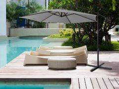 NEW Milano 3M Outdoor Sun Umbrella Patio Garden Beach Crank Tilt Polyester - Grey