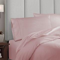 Balmain 1000 Thread Count Hotel Grade Bamboo Cotton Quilt Cover Pillowcases Set - Queen - Blush