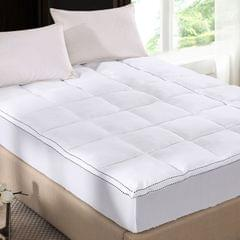(QUEEN) Royal Comfort 1000GSM Luxury Bamboo Fabric Gusset Mattress Pad Topper Cover