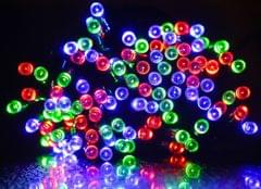 100 LED Indoor Outdoor Waterproof Solar Fairy String Lights Party Xmas - RGB