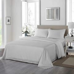 Royal Comfort 1200 Thread Count Sheet Set 4 Piece Ultra Soft Satin Weave Finish - Queen - Silver