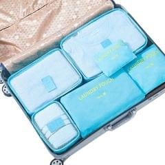 Jet Set 6 Piece Travel Luggage Organizer Storage Cube Pouch Suitcase Packing Bag - Aqua