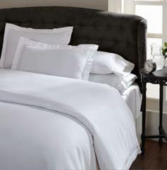 Ddecor Home 1000 Thread Count Quilt Cover Set Cotton Blend Classic Hotel Style - Queen - White