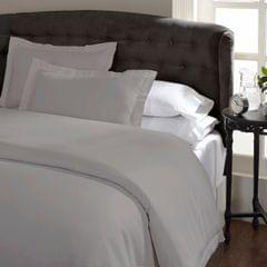 Ddecor Home 1000 Thread Count Quilt Cover Set Cotton Blend Classic Hotel Style - Queen - Pewter
