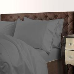 Royal Comfort 1000 Thread Count Cotton Blend Quilt Cover Set Premium Hotel Grade - King - Charcoal