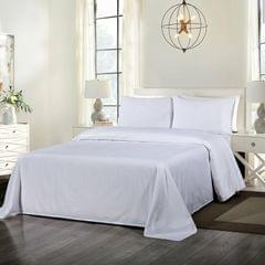 Royal Comfort Cooling Bamboo Blend Sheet Set Striped 1000 Thread Count Pure Soft - Queen - White