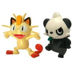 "Pokemon Tomy Action Pose Meowth vs Pancham 2"" Mini Figure 2-Pack"