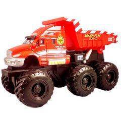 Maisto Quarry Monster Series, Brush Fire Dump Truck, Motorized 6-Wheeler, Multi-color