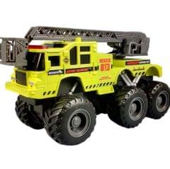Maisto Quarry Monster Series, Emergency Rescue Truck, Motorized 6-Wheeler, Multi-color
