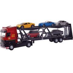 Maisto Fresh Metal Super Transporter Truck Line Series, Multi Vehicle Carrier Trailer, Die Cast