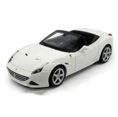 Burago Ferrari California T Open Top, White, 1:24 Scale, Die Cast Metal, Collectable Model