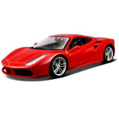 Burago Ferrari 488 GTB, Red, 1:18 Scale, Die Cast Metal, Collectable Model