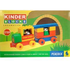 Peacock Kinder Blocks Locomotive Block Set