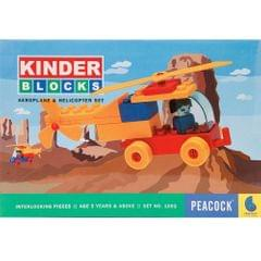 Peacock Kinder Blocks Aeroplane & Helicopter Set
