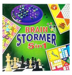 CJ Brain Stormer, 5 In 1 Board Game