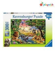 Ravensburger Jigsaw Puzzle, Evening at The Waterhole, 300 Pieces