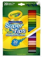Crayola Supertips Washable Markers, Assorted Colour, Pack Of 20
