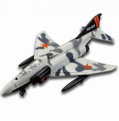 Maisto Tailwinds, F-4 Phantom II Jet, Die Cast Replica, White & Grey