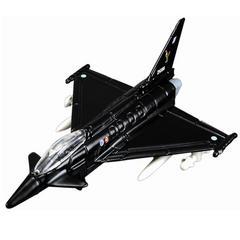 Maisto Tailwinds, Ef-2000 Eurofighter Typhoon Fighter Jet, Die Cast Replica, Black