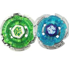 Beyblade Legends Hyperblades, Pack of 2, Omega Dragonis 85XF Top & Fang Leone 130 W2 D Top