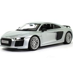 Maisto Audi R8 V10 Plus Premiere Edition, Silver, 1:18 Scale, Die Cast Metal, Collectable Model