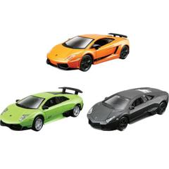 Maisto Lamborghini Collection, 4.5 Inch Die Cast Metal Cars, 3 Car Pack
