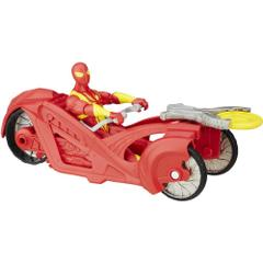 Marvel Spiderman Sinister 6 Motorcycle, Iron Spider with Armor Racer