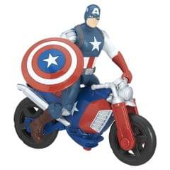 Marvel Avengers Captain America with Motorcycle, 6 Inch Deluxe Action Figure