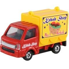 Takara Tomy Tomica Suzuki Carry Mobile Catering Truck, No.57, Scale 1 : 55, Die Cast Metal Car Collectables