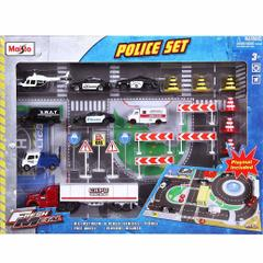 Maisto Police Fresh Metal Playsets, Multi Color