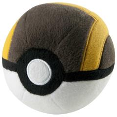 Pokemon Plush Master Pokeball, Yello, Black & White