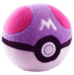 Pokemon Plush Master Pokeball, Pink, Purple & White