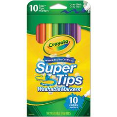 Crayola Supertips Washable Markers, Assorted Colour, Pack Of 10