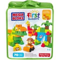 Mega Bloks First Builders Build a Dinosaur, 70 Pieces Bag Multi Color