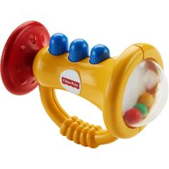 Fisher Price Trumpet Rattle, Multi Color