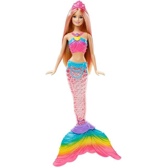 Barbie Rainbow Lights Mermaid Doll, Multi Color