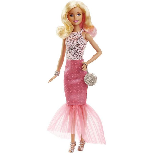 Barbie Fabulous Gown Doll Pink & White, Multi Color