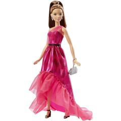 Barbie Fabulous Gown Doll Dark Pink, Multi Color