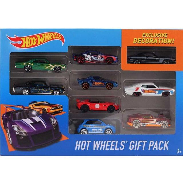 Hot Wheels 9 Cars Gift Pack, Styles May Vary